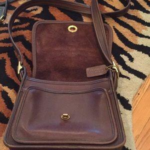 Vintage darker brown coach purse